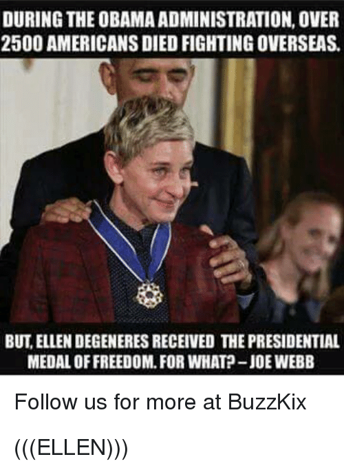 during the obama administration over 2500 americans died fighting overseas 30251274 liberal hypocrisy on parade ellen degeneres at anti gun rally
