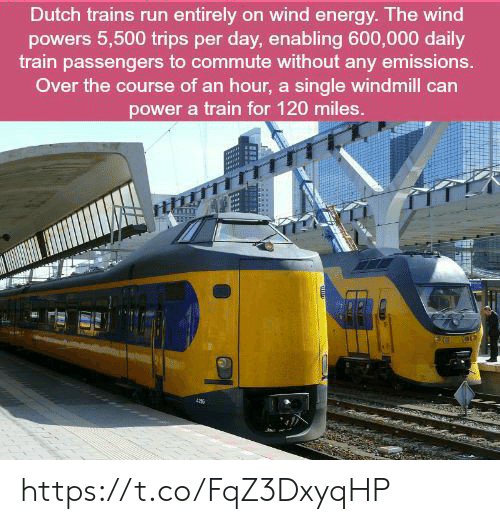 Dutch Trains Run Entirely on Wind Energy the Wind Powers 5500 Trips