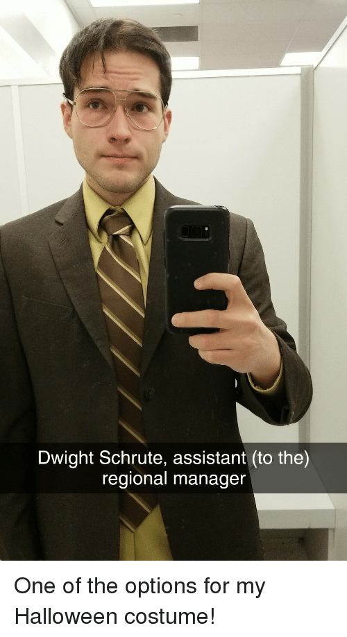 Dwight Schrute Assistant To The Regional Manager One Of The Options
