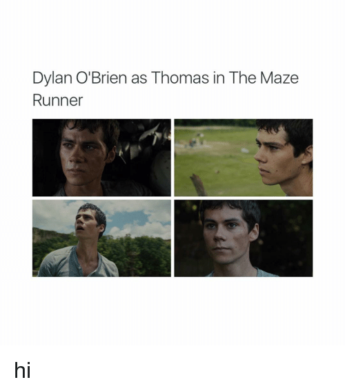 Dylan O'Brien, Girl Memes, and Maze Runner: Dylan O'Brien as Thomas in The Maze  Runner hi
