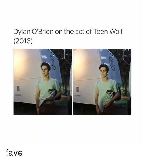 Dylan O'Brien, Teen Wolf, and Fave: Dylan O'Brien onthe set of Teen Wolf  (2013) fave