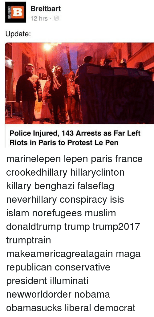 E Breitbart 12 Hrs Update Police Injured 143 Arrests as Far