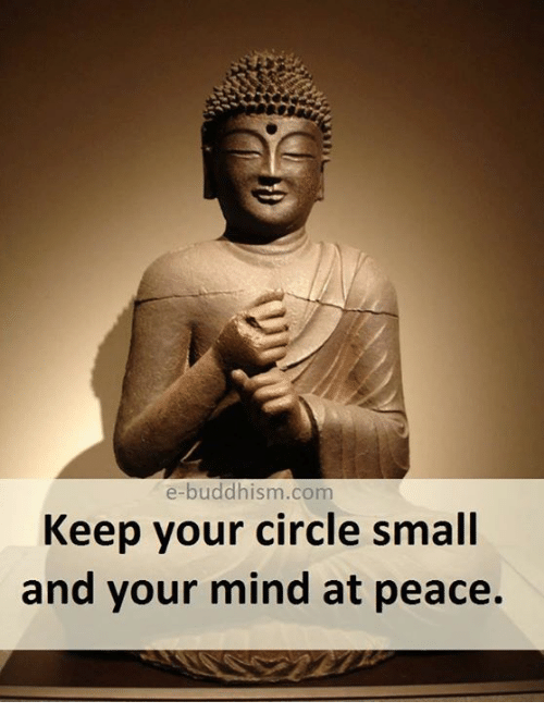 Memes, Buddhism, and Mind: e-buddhism.com  Keep your circle small  and your mind at peace.