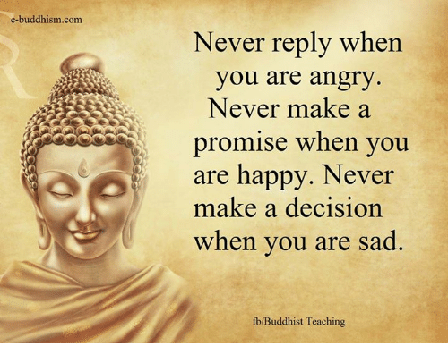 E-Buddhism Com Never Reply When You Are Angry Never Make A