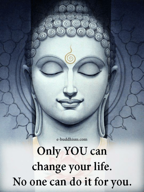 Life, Memes, and Buddhism: e-buddhism.com  Only YOU can  change your life  No one can do it for you