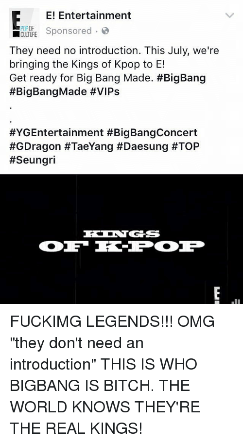 E! Entertainment POPOF Sponsored CULTURE They Need No