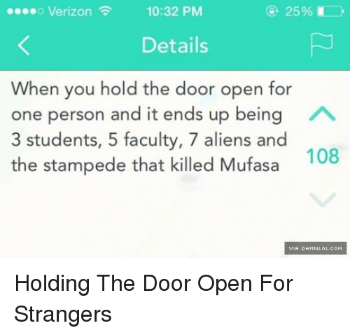 Holding The Door Open