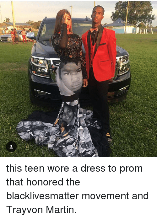 8c50c8922ef E This Teen Wore a Dress to Prom That Honored the Blacklivesmatter ...
