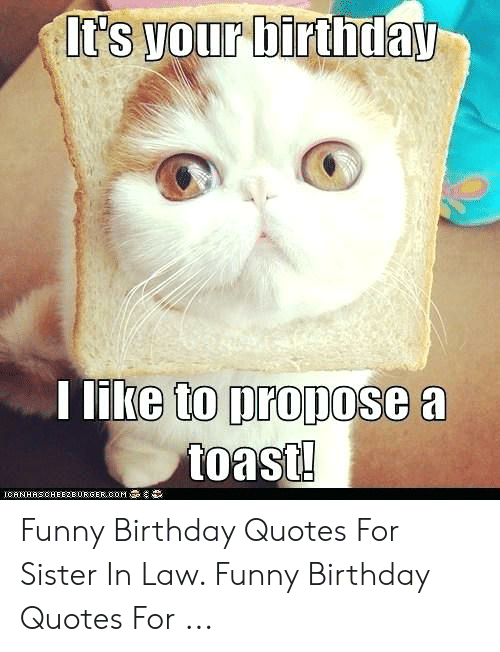 E to Propose a Funny Birthday Quotes for Sister in Law Funny ...