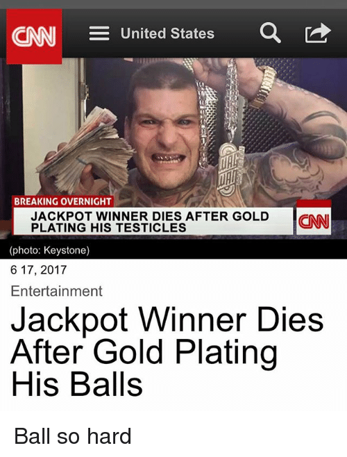 E United States A Breaking Overnight Jackpot Winner Dies After Gold