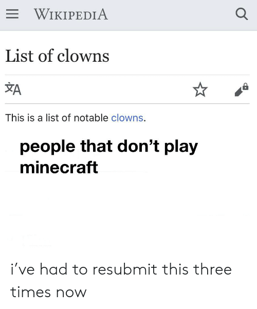E WIKIPEDIA List of Clowns a This Is a List of Notable Clowns People