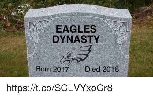 Philadelphia Eagles, Dynasty, and Born: EAGLES  DYNASTY  Born 2017  Died 2018 https://t.co/SCLVYxoCr8
