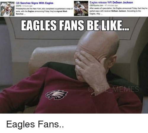 Eagles Fans Be Like