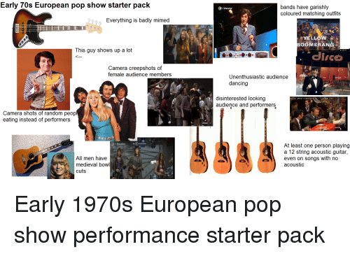 Early 70s European Pop Show Starter Pack Bands Have Garishly