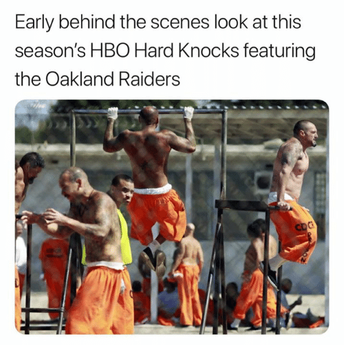 Hbo, Nfl, and Oakland Raiders: Early behind the scenes look at this  season's HBO Hard Knocks featuring  the Oakland Raiders  CDC