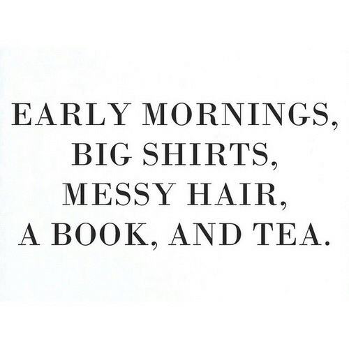 Book, Hair, and Tea: EARLY MORNINGS.  BIG SHIRTS,  MESSY HAIR  A BOOK, AND TEA