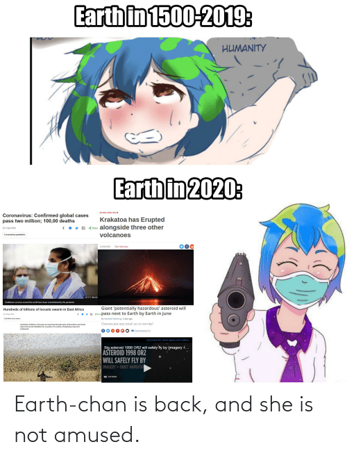 Earth Chan Is Back And She Is Not Amused Earth Meme On Me Me