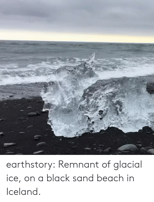 Target, Tumblr, and Beach: earthstory:  Remnant of glacial ice, on a black sand beach in Iceland.