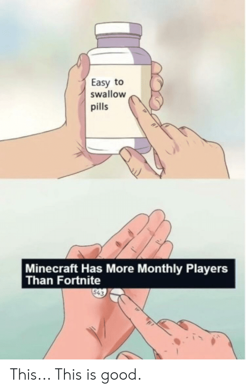 Easy to Swallow Pills Minecraft Has More Monthly Players