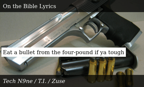 Eat a Bullet From the Four-Pound if Ya Tough | Donald Trump Meme on