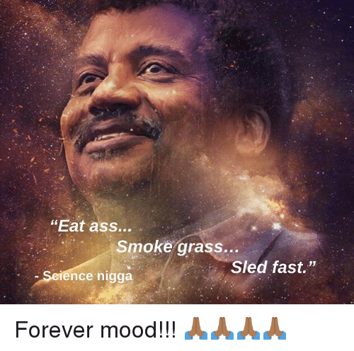 "Ass, Memes, and Mood: ""Eat ass...  Smoke grass...  Sled fast.""  Science nigga Forever mood!!! 🙏🏾🙏🏾🙏🏾🙏🏾"