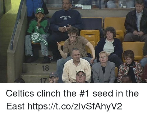 Tom Brady, Celtics, and Seed: EBAUEar  18  3 Celtics clinch the #1 seed in the East https://t.co/zIvSfAhyV2