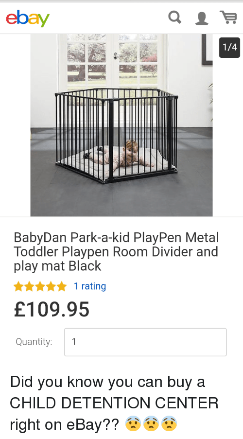 Ebay LA 14 BabyDan Park A Kid PlayPen Metal Toddler Playpen Room
