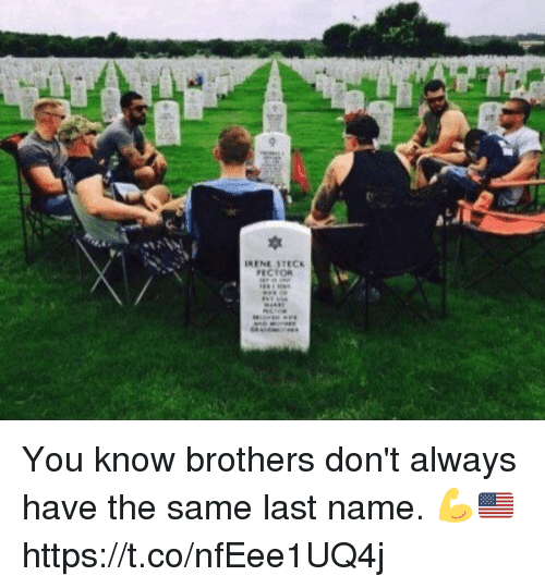 Memes, 🤖, and Brothers: ECTOR You know brothers don't always have the same last name. 💪🇺🇸 https://t.co/nfEee1UQ4j