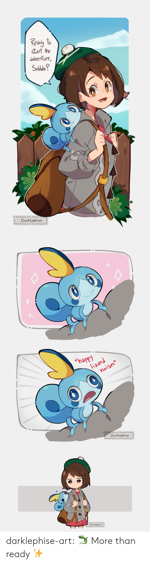 Gif, Target, and Tumblr: ed  start the  adventure,  Sobble?  DarkLephise   appy  notses  Dark Lephise   DarkLephise darklephise-art: 🦎 More than ready ✨