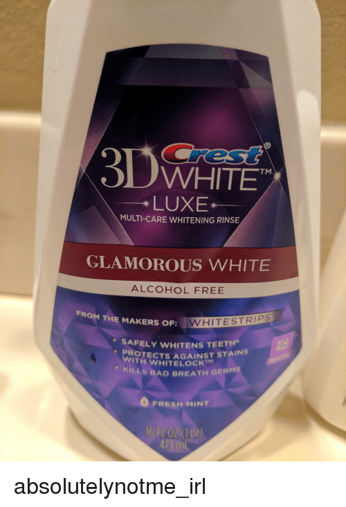 Bad Fresh And Alcohol Ed White Tm Luxe Multi Care Whitening Rinse