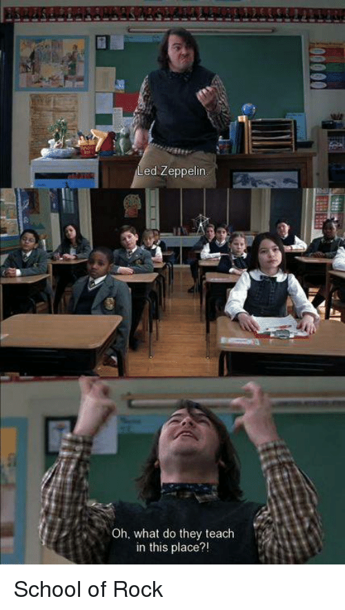 school of rock essay School of rock is a 2003 musical comedy film directed by richard linklater, produced by scott rudin, and written by mike white the film stars jack black.