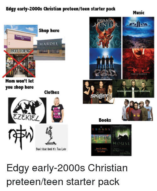 Edgy Early 2000s Christian Preteenteen Starter Packmusis Shop Here