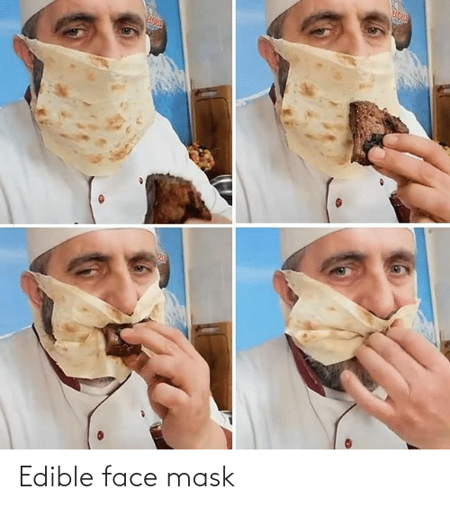Mask, Face, and Face Mask: Edible face mask