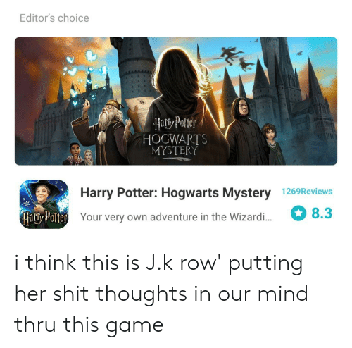 Editor's Choice Hatiy Potter HOGWARTS MYSTERY 3TFy Harry