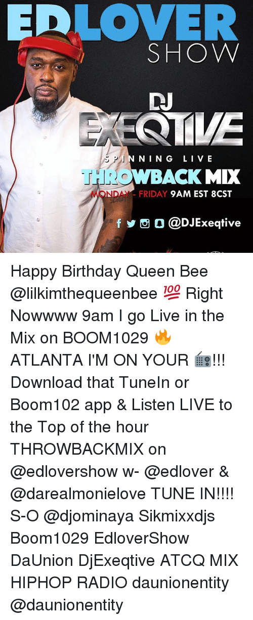 Birthday, Friday, and Memes: EDLOVER SHOW DN NING LIV E THROWBACK MIX MONDAY