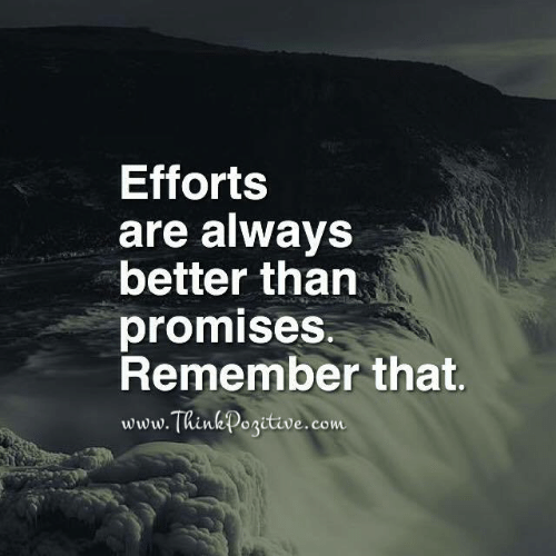 Com, Kink, and Remember: Efforts  are always  better than  promises.  Remember that.  www.T  Kink positive.com