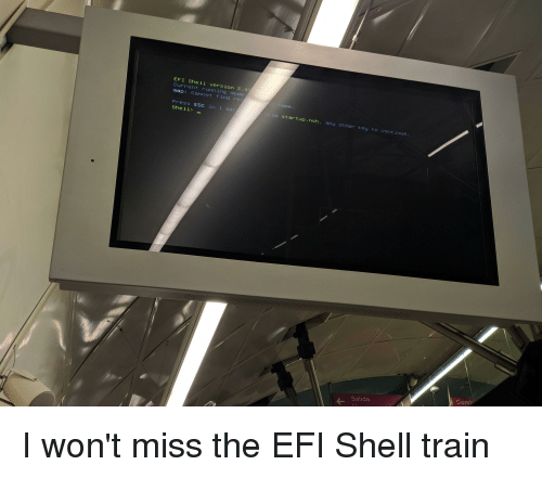 EFI Shell Version 240 Current Running Mode Map Cannot Find