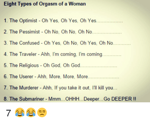 Different levels of orgasm girl