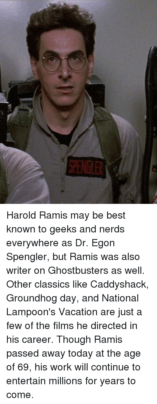 Ein36 harold ramis may be best known to geeks and nerds everywhere work best and groundhog day ein36 harold ramis may be best known to solutioingenieria Images