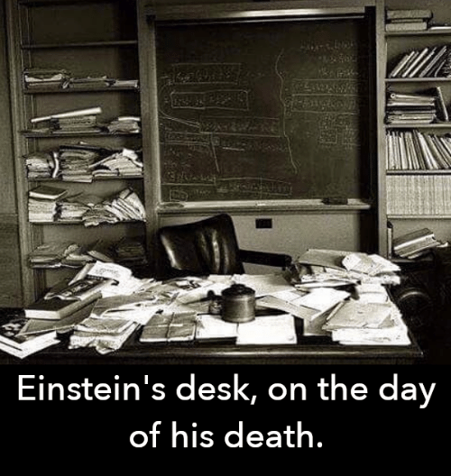 Memes, Death, and Desk: Einstein's desk, on the day  of his death