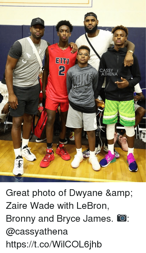 EITT CASSY ATHENA 2 1 Great Photo of Dwyane &Amp Zaire Wade With