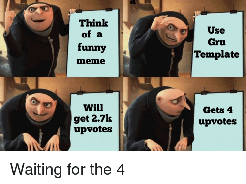 El Think of a Funny Meme Use Gru Template Will Get 27k ...