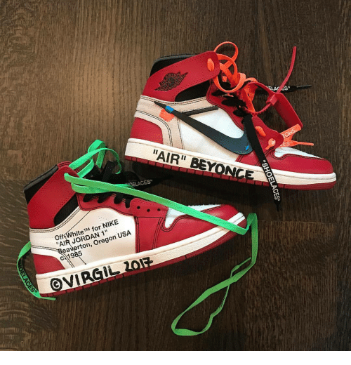 8ab11f1fe04c ELACES Off White TM for NIKE AIR JORDAN 1 Reaverton Oregon USA ...