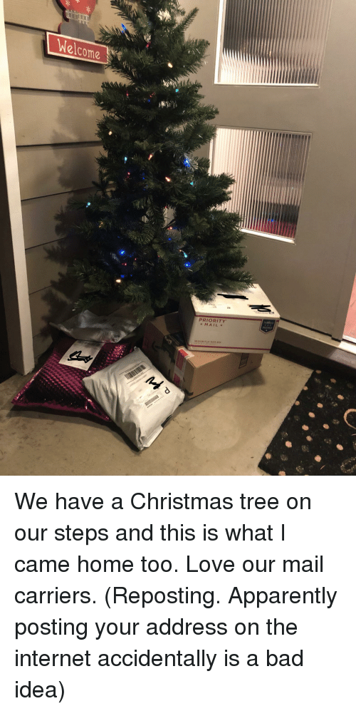 Apparently, Bad, and Christmas: elcome  PRIORITY  MAIL  NSURED  MEDIUM FLAT RATE BOX