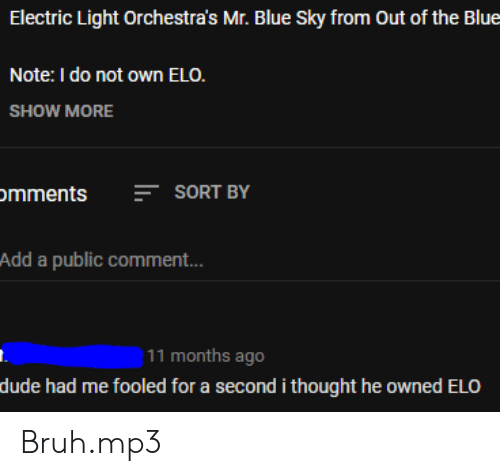 Electric Light Orchestra's Mr Blue Sky From Out of the Blue Note I