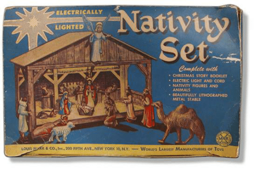 electrically nativity lighted ar complete wit christmas story
