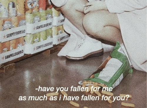 Fallen, You, and For: ELEGR  ANPELLEGRNO  -have you fallen for me  as much as i have fallen for you?