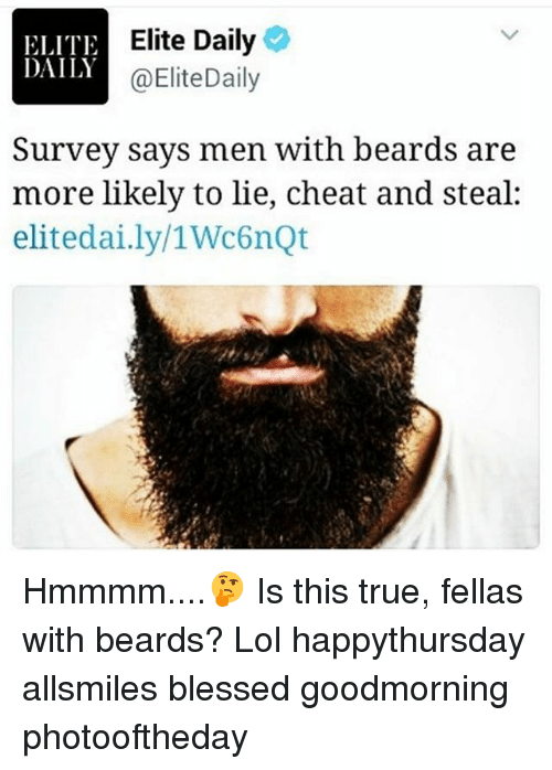 ELITE DAILY Elite Daily Survey Says Men With Beards Are More