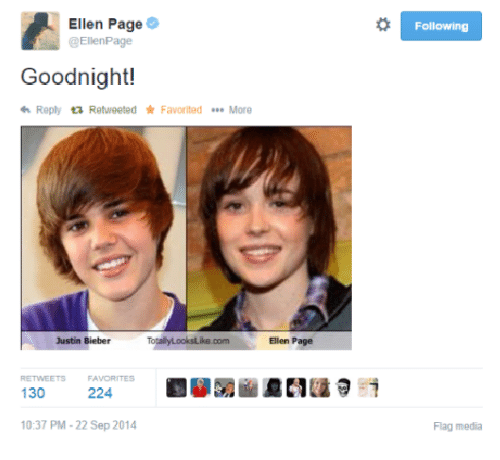 Ellen Page Following Goodnight! Reply Retweeted