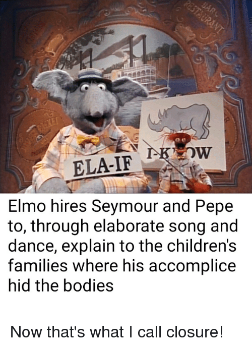 Elmo Hires Seymour And Pepe To Through Elaborate Song And Dance